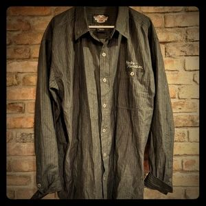 Harley Davidson XXL Tall button down